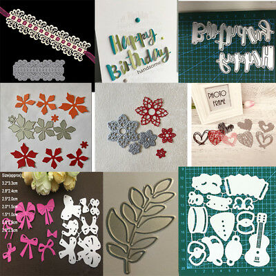 Cutting Dies Lace Flower Edge DIY Metal Embossing Paper Craft Border Cut Stencil