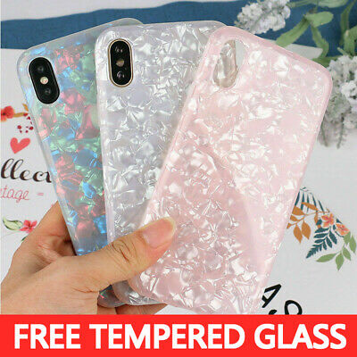 Case For iPhone 8 7 6 Plus XS Max XR Marble Shockproof Silicone Protective Cover