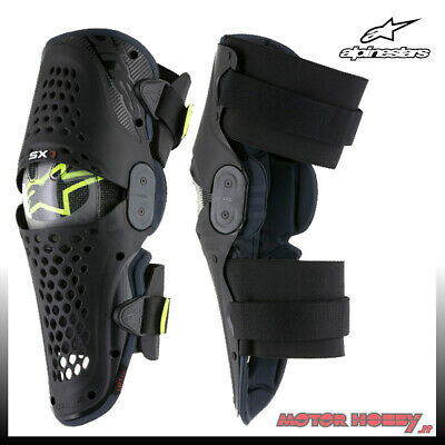 Ginocchiere Off Road Alpinestars Knee Guards Sx-1 Nero Antracite Taglia L/Xl