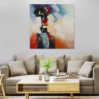 HAND DRAW MODERN Abstract Art Canvas Oil Painting Home Wall Decor , Framed