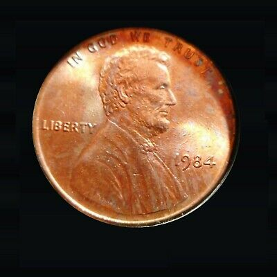 1984 Lincoln Cent Dbl Ear Double Ear, Brilliant Example, Stunning Memorial Cent