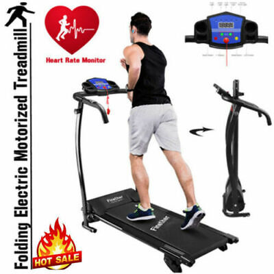 Folding Electric Motorized Treadmill Running Jogging Machine Gym Incline Monitor