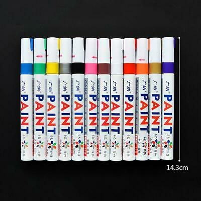 12pcs Waterproof Non-Fade Permanent Paint Marker Pen Car Tyre Tire Tread Metal