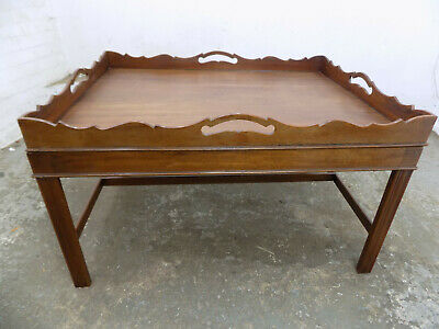 repro,antique,large,mahogany,butler table,coffee table,serving table,tray,table