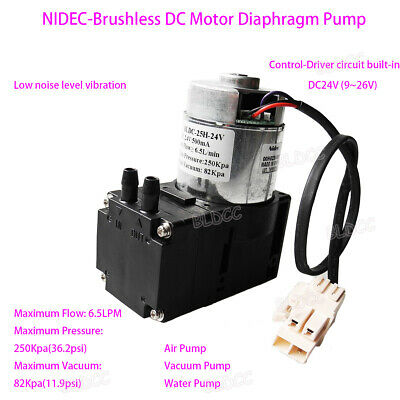 DC 12V 24V Brushless Diaphragm Pump Vacuum Pump for Breast Pump Air Pump DIY GT