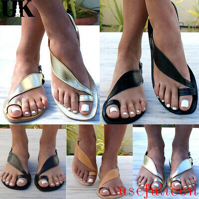 Fashion Womens Flip Flop Toe Ring Sandals Ladies Summer Casual Beach Shoes Size