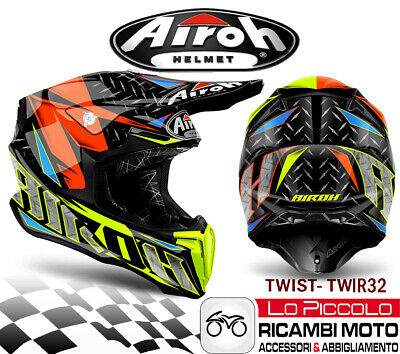 TWIR32 Helm Twist Off Road Enduro Moto-Cross Airoh Iron Orange Glossy L 59-60