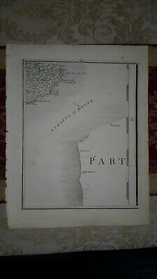 1794 -  John Cary original map 18  straits  of dover