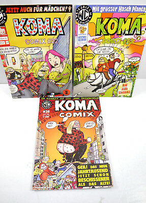 Coma Comix - Booklet 22 23 24/1999 2000 Comic Tinplate Publisher (MF5)