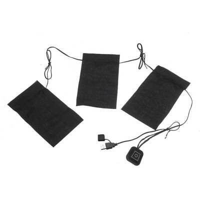 Electric USB Heating Pads Mobile Thermal Vest Heated Jacket Outdoor Warming AU.