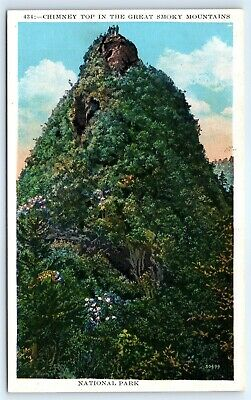 Postcard NC Chimney Top In Great Smoky Mountains National Park H4