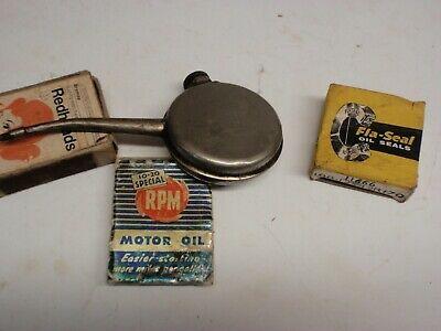 Caltex Geelong Match Cover  & Oil tin