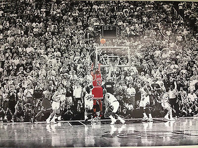 MICHAEL JORDAN LAST SHOT VS JAZZ 24x36 POSTER LEGEND ICON GOAT CHICAGO BULLS NEW