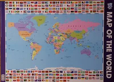 World Map Educational Poster New - Maxi Size 49 x 69 cm 27 x 19 inches