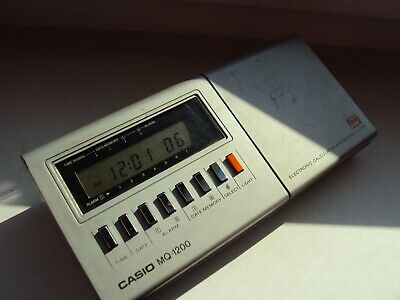 Vintage Casio MQ-1200 Melody clock calculator Made in Japan