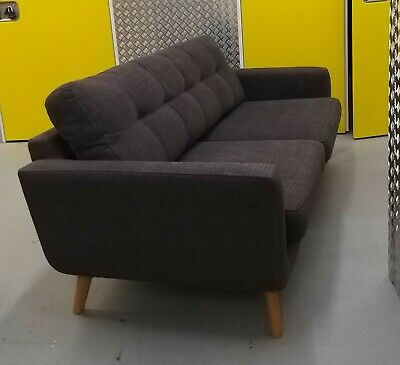 John Lewis Barbican 4-seater sofa, charcoal colour, used but in good condition