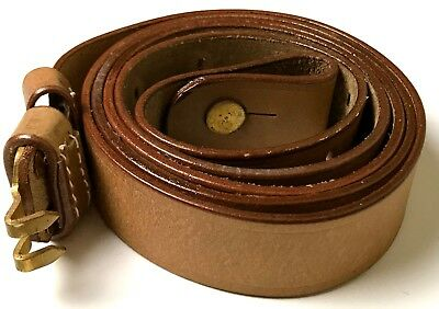 Wwi & Span Am Us M1887 Springfield Krag Rifle Leather Carry Sling