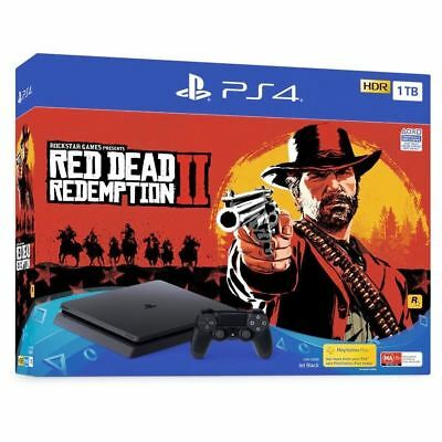 Console Sony Ps4 Italia 1Tb Slim Playstation 4 Ps4 + Red Dead Redemption Ii