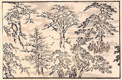 Kawanabe Kyosai, Authentic, Antique Woodblock Print—Kyosai Don-ga RARE! Fuji