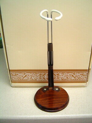 Wooden Doll Stand For American Girl Dolls Fits 18Inch Tall Wood Base Metal Hook