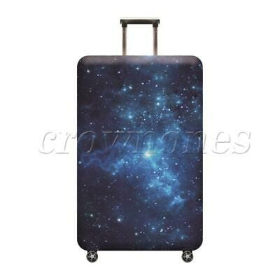Luggage Cover  Elastic Dustproof Suitcase Protector Black galaxy Style