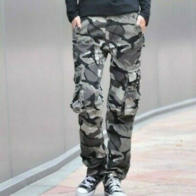 Lady Cotton Camouflage Cargo Trousers Combat Work Pants Military Outdoor Classic