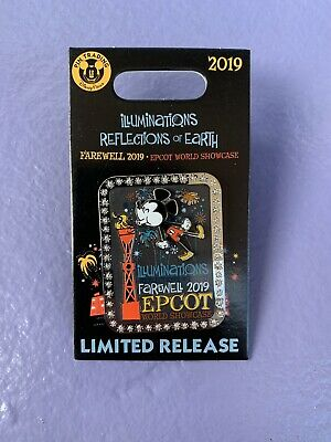 Disney EPCOT Trading Pin Farewell Illuminations World Showcase Limited Release