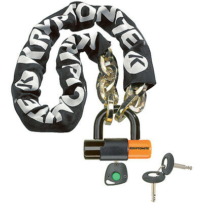 Kryptonite Bike Lock New York Chain 1210 12mm x 100cm & EVS4 Disc 14mm Shackle