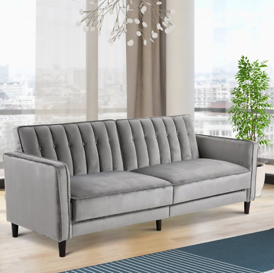 Vintage Sofa Bed 3 Seater Furniture Living Room Couch Large Upholstered Settee