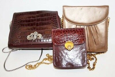 3 Stuart Weitzman Brown Leather Purses