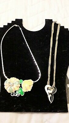 job lot of 2 new/old stock BERGDORF GOODMAN vintage necklaces