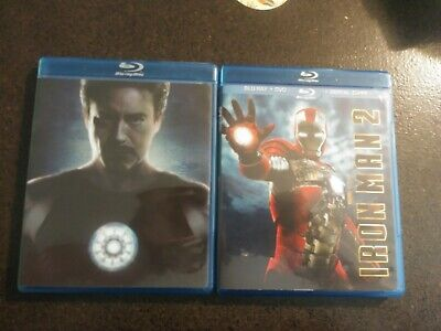 Ironman 2 disc Bluray set special features unrated & Iron Man 2 Bluray 3 disc
