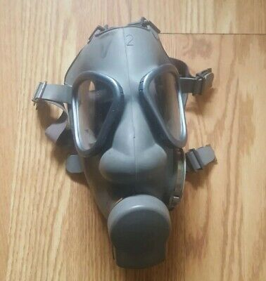 Finnish gas mask with US gas Mask Bag And Canteen Strap (Millitary Surplus,...