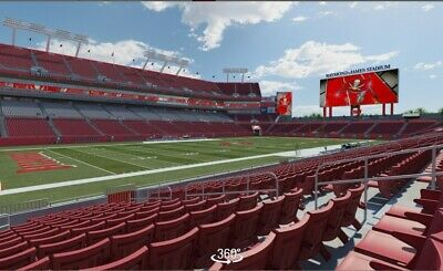2x Indianapolis Colts at Tampa Bay Buccaneers Tickets 12/08/19 Sec 106 Row J