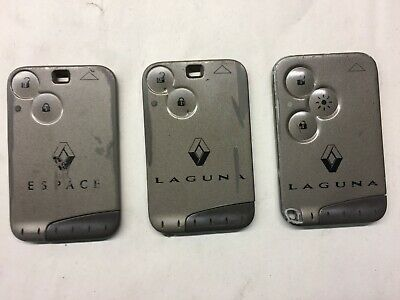3X Genuine Renault Laguna Megane Espace Scenic 2 Button Card Flip Remote Key Fob