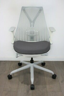 UK & EU DELIVERY | Herman Miller Sayl chairs  | White & Grey | Lumbar Support