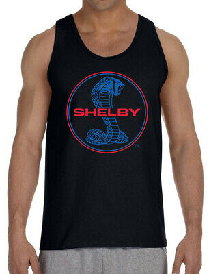 Men's Shelby Cobra Circle Black Tank Top T-Shirt Cars Racing Mustang Muscle Ford