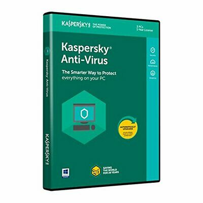 Brand New Kaspersky Antivirus KAV 2019 3 PC 1 Year Anti-Virus Key Posted EU