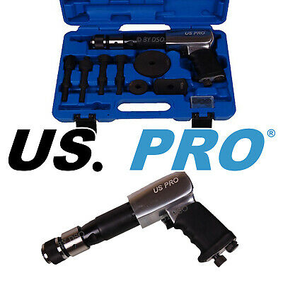 US PRO TOOLS 9pc Engineering Air Vibro Chisel Set With Air Hammer 8582
