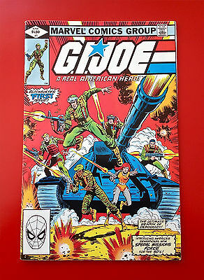 G.I. Joe #1  Marvel Comic Book Gi Joe 1982 Bronze Age 1