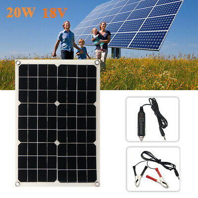 20W 18V Car Boat Yacht Solar Panel Trickle Battery Charger Outdoor Power Supply