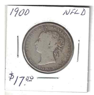 1900 50 cents Silver Coin NFLD Canada