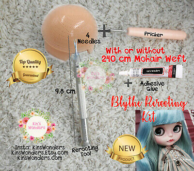 Rerooting Blythe Kit Rehairing Hair Tool Pullip Doll Needle Custom faceup Mohair