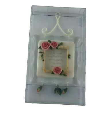 Friend Gift Wall Plaque with sentiments and heart and Lace Design F1508E-GD