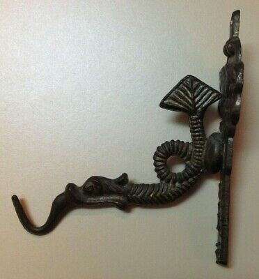 Vintage ( Maybe Antique?), Metal Dragon Coat Hook / Hanger, Patina