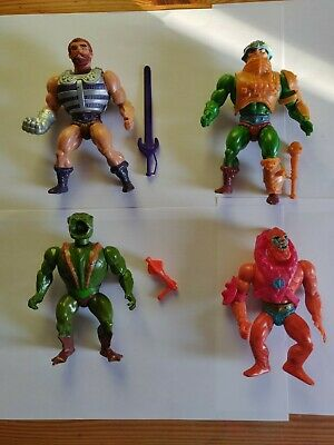 He-man Masters Of The Universe Fisto, Man At Arms, Beast Man And Kobra Khan