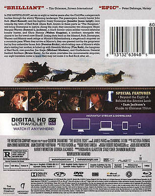 The Hateful Eight (Blu-ray/DVD, 2016, 2-Disc Set, Includes Digital Copy