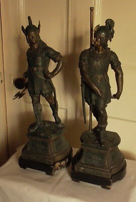 Antique Spelter Figures - Vikings