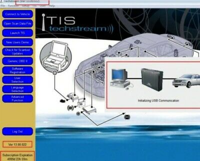 LATEST VERSION✔️Toyota TIS Techstream V13.00.022 Dealer Diagnostic Software✔️