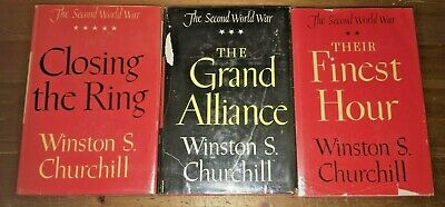 THE SECOND WORLD WAR, WINSTON CHURCHILL - 3 of 6 (BOMC) Finest Alliance Ring